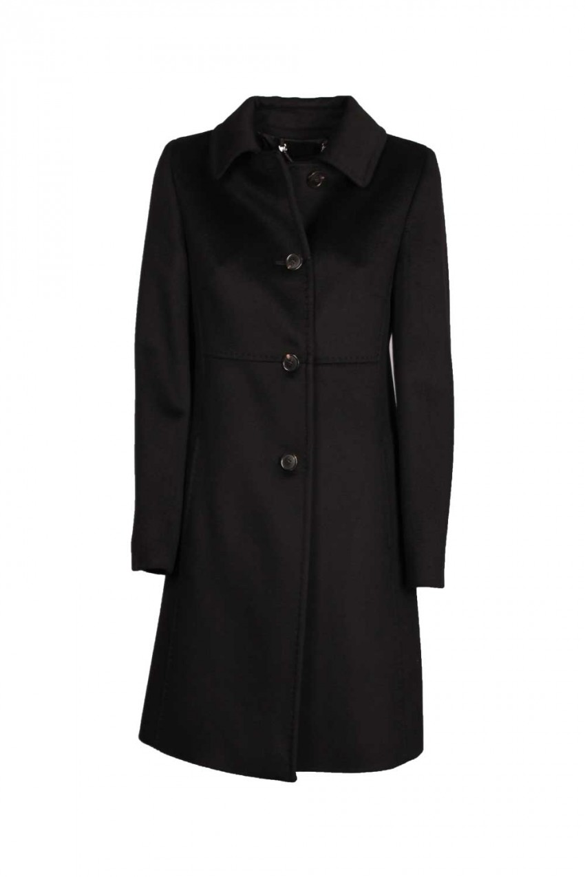 Cappotto Donna Max Mara Weekend Nero eb6fd6ec264