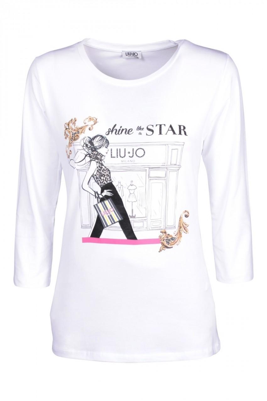 super popular 93437 3f637 T-shirt Donna Liu Jo Bianco