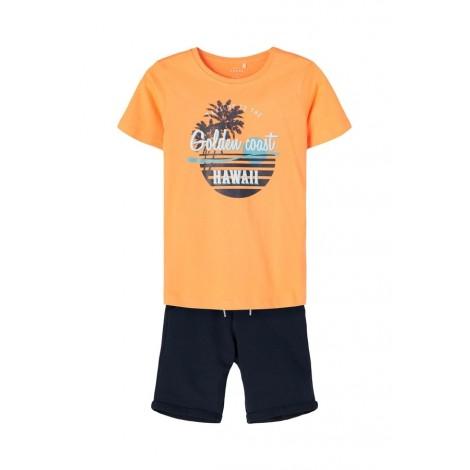 Twin set Bambino Name It Arancione e Blue