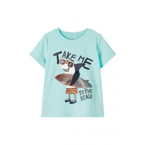 T-shirt Bambino Name It Azzurro