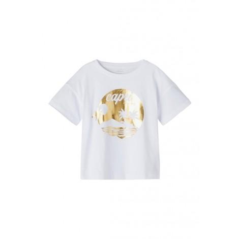 T-shirt Bambina Name It Bianco