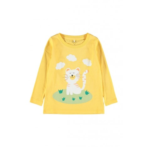 T-shirt Bambina Name It Giallo