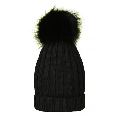 Cappello berretto Donna Riviera Cashmere Nero