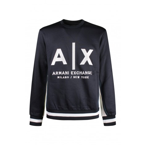 Felpa Uomo Armani Exchange Blue