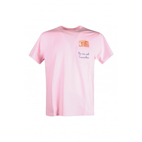 T-shirt Uomo Saint Barth Mc2 Rosa