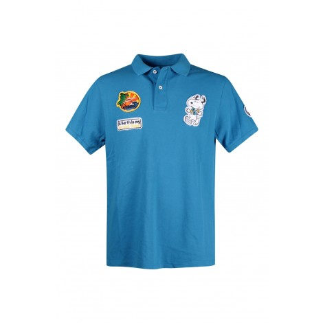 Polo Uomo Saint Barth Mc2 Blue