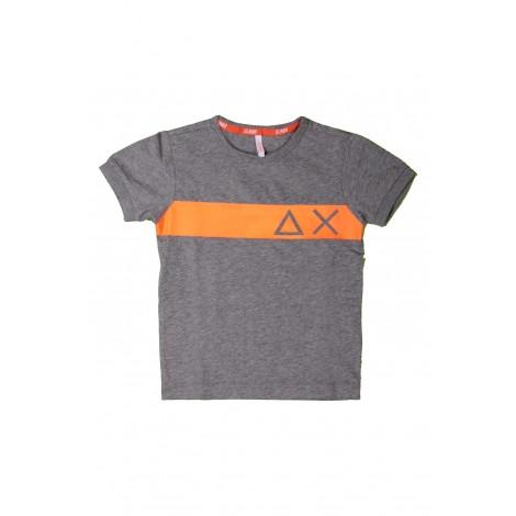 T-shirt Bambino Sun68 Grigio