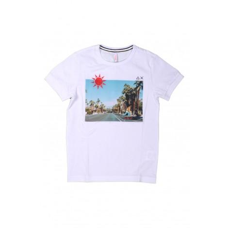T-shirt Bambino Sun68 Bianco